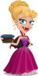 Vampire Girl Cartoon Vector Character - With Books