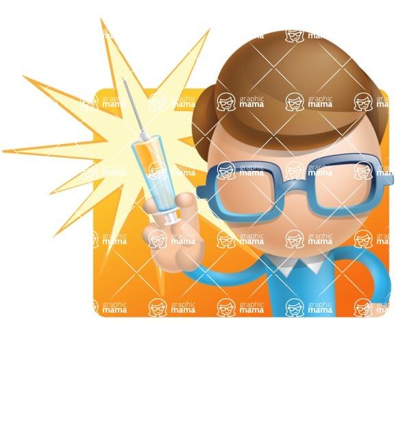 Simple Businessman Vector 3D Cartoon Character AKA Nerdy - Shape1