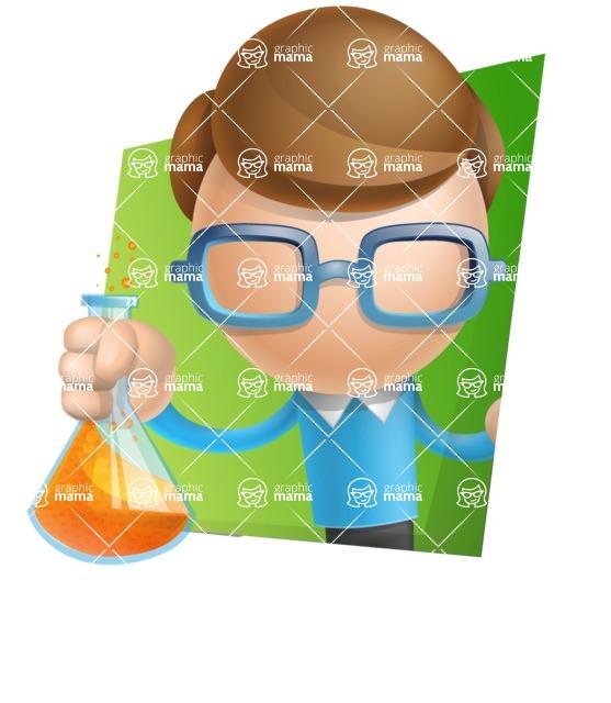 Simple Businessman Vector 3D Cartoon Character AKA Nerdy - Shape3
