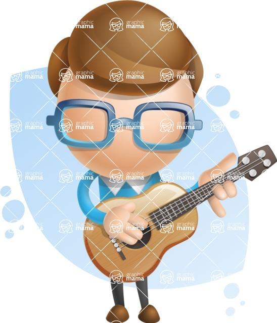 Simple Businessman Vector 3D Cartoon Character AKA Nerdy - Shape8