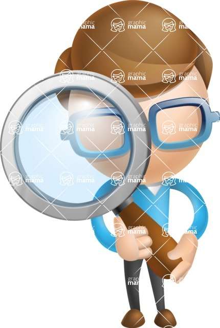 Simple Businessman Vector 3D Cartoon Character AKA Nerdy - Search