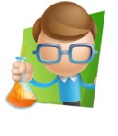 Simple Businessman Vector 3D Cartoon Character AKA Nerdy - Shape3