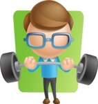 Simple Businessman Vector 3D Cartoon Character AKA Nerdy - Shape6