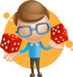Simple Businessman Vector 3D Cartoon Character AKA Nerdy - Shape7