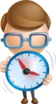 Simple Businessman Vector 3D Cartoon Character AKA Nerdy - Time is Yours