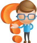 Simple Businessman Vector 3D Cartoon Character AKA Nerdy - Question