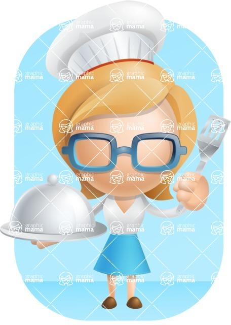 Simple Business Woman Vector 3D Cartoon Character AKA Nerdellina - Shape9