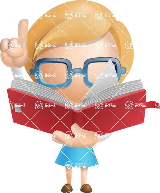 Simple Business Woman Vector 3D Cartoon Character AKA Nerdellina - Book 2