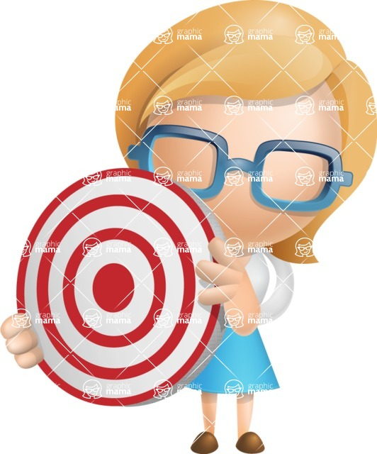 Simple Business Woman Vector 3D Cartoon Character AKA Nerdellina - Target