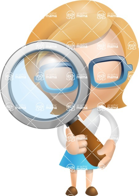 Simple Business Woman Vector 3D Cartoon Character AKA Nerdellina - Search