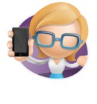Simple Business Woman Vector 3D Cartoon Character AKA Nerdellina - Shape4
