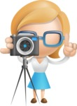 Simple Business Woman Vector 3D Cartoon Character AKA Nerdellina - Photo