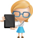 Simple Business Woman Vector 3D Cartoon Character AKA Nerdellina - iPad 1