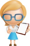 Simple Business Woman Vector 3D Cartoon Character AKA Nerdellina - Notepad 2