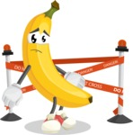 Cute Banana Cartoon Vector Character AKA Banana Peelstrong - Farming with Baby Carrots