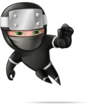 Funny Ninja Cartoon Vector Character AKA Hibiki the Flying Ninja - Stop 1