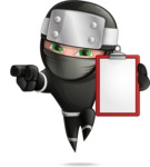 Funny Ninja Cartoon Vector Character AKA Hibiki the Flying Ninja - Note 1