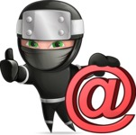 Funny Ninja Cartoon Vector Character AKA Hibiki the Flying Ninja - Web