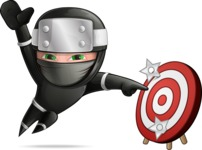 Funny Ninja Cartoon Vector Character AKA Hibiki the Flying Ninja - Target