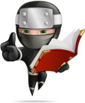 Funny Ninja Cartoon Vector Character AKA Hibiki the Flying Ninja - Book