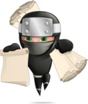 Funny Ninja Cartoon Vector Character AKA Hibiki the Flying Ninja - Plans