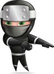 Funny Ninja Cartoon Vector Character AKA Hibiki the Flying Ninja - Show 2