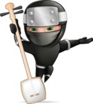 Funny Ninja Cartoon Vector Character AKA Hibiki the Flying Ninja - Music