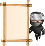 Funny Ninja Cartoon Vector Character AKA Hibiki the Flying Ninja - Presentation 5
