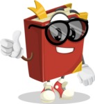 Cute Book Cartoon Vector Character AKA Bookie Paperson - Being Cool with Sunglasses