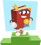 Cute Book Cartoon Vector Character AKA Bookie Paperson - Being Most Important Illustration