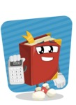 Cute Book Cartoon Vector Character AKA Bookie Paperson - Calculating Illustration