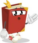 Cute Book Cartoon Vector Character AKA Bookie Paperson - Feeling Bored and Yawning