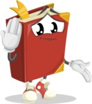 Cute Book Cartoon Vector Character AKA Bookie Paperson - Making Oops gesture