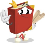 Cute Book Cartoon Vector Character AKA Bookie Paperson - Making Plans