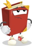 Cute Book Cartoon Vector Character AKA Bookie Paperson - Rolling Eyes