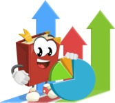 Cute Book Cartoon Vector Character AKA Bookie Paperson - Analytics Illustration