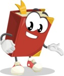 Cute Book Cartoon Vector Character AKA Bookie Paperson - Showing with a Smile