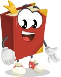 Cute Book Cartoon Vector Character AKA Bookie Paperson - Smiling
