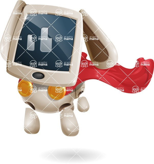 Cute Robot Pet Cartoon Character AKA MADIO The Puppy - Super Dog