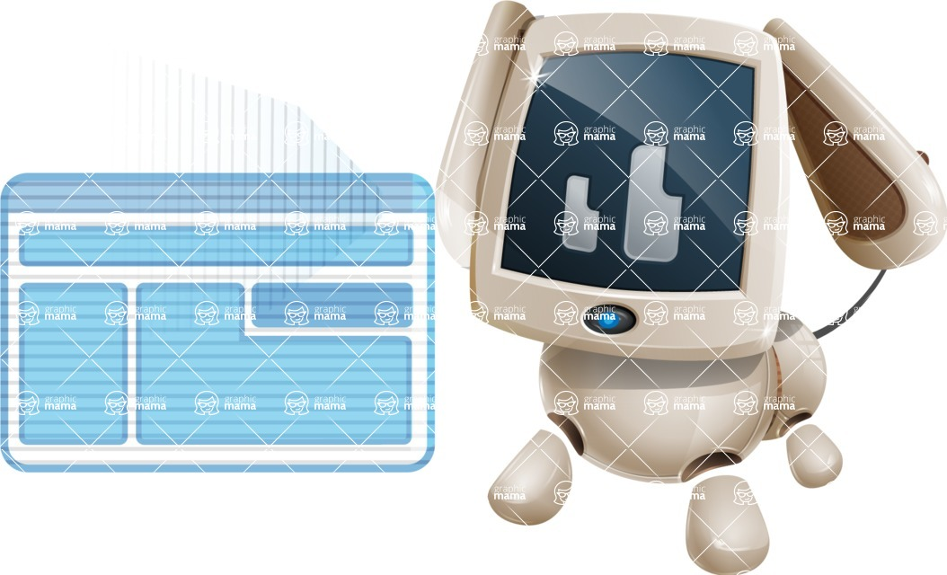 Cute Robot Pet Cartoon Character AKA MADIO The Puppy - Multimedia
