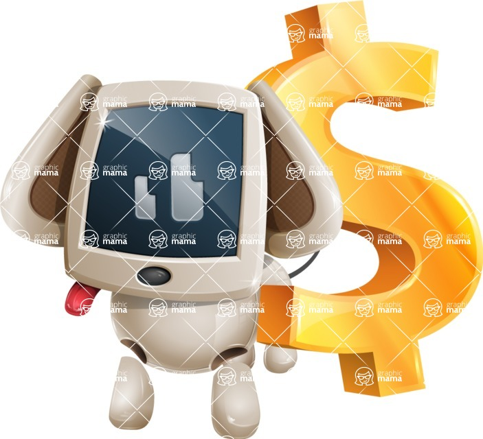 Cute Robot Pet Cartoon Character AKA MADIO The Puppy - Dollar