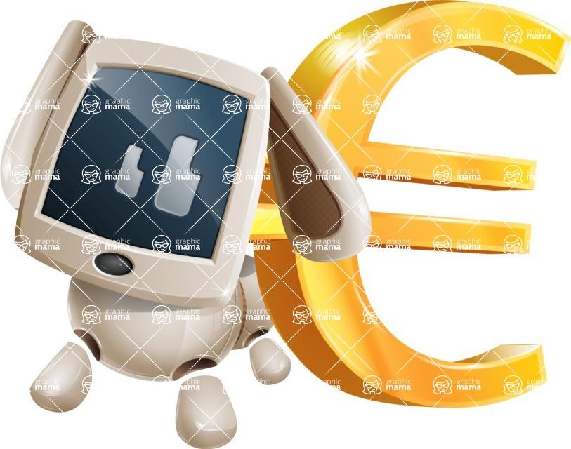 Cute Robot Pet Cartoon Character AKA MADIO The Puppy - Euro