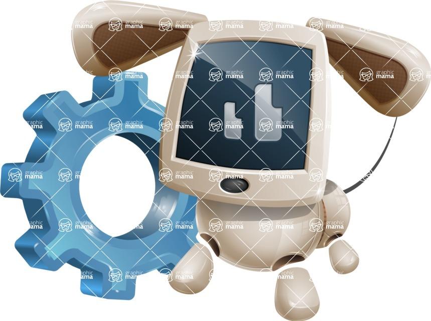 Cute Robot Pet Cartoon Character AKA MADIO The Puppy - Gear