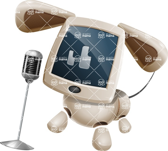 Cute Robot Pet Cartoon Character AKA MADIO The Puppy - Sing