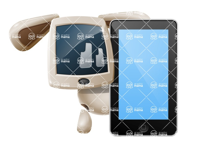 Cute Robot Pet Cartoon Character AKA MADIO The Puppy - iPhone