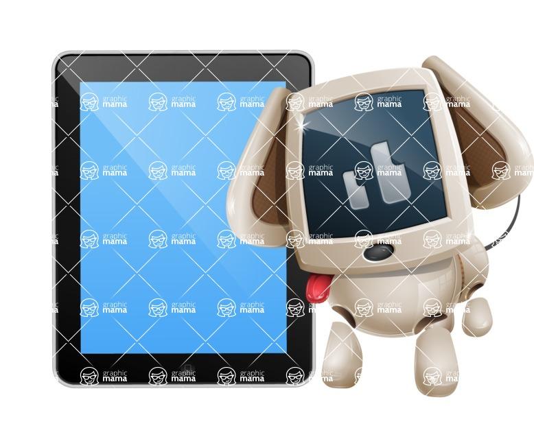 Cute Robot Pet Cartoon Character AKA MADIO The Puppy - iPad 1