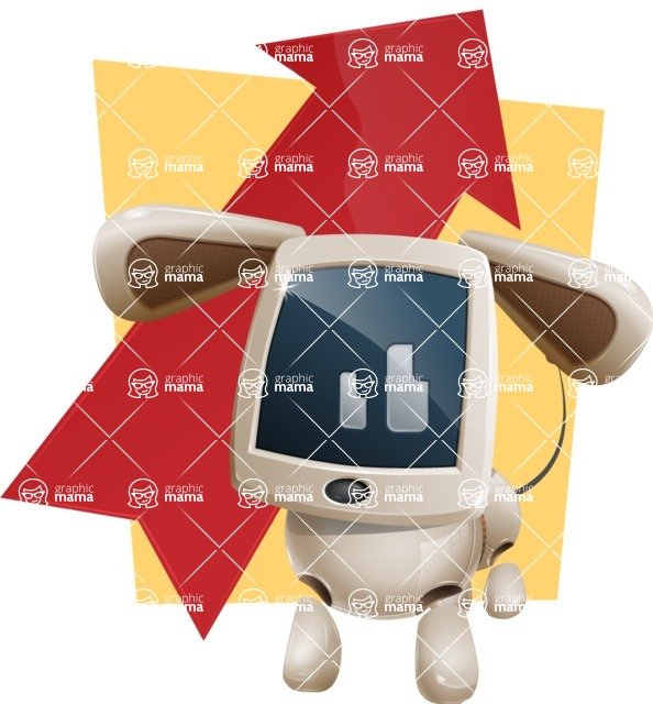 Cute Robot Pet Cartoon Character AKA MADIO The Puppy - Shape6