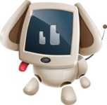 Cute Robot Pet Cartoon Character AKA MADIO The Puppy - Normal