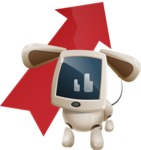 Cute Robot Pet Cartoon Character AKA MADIO The Puppy - Arrow