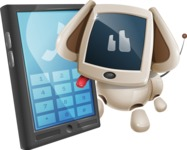 Cute Robot Pet Cartoon Character AKA MADIO The Puppy - Phone